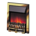 Dimplex Wynford Electric Fire in Brass