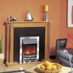 Dimplex Wynford Chrome Electric Fire with Optiflame Effect