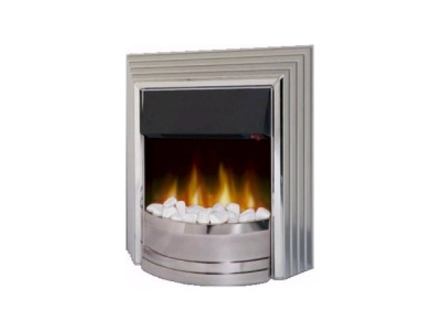 Dimplex Castillo Electric Fire In Chrome Fireplace World