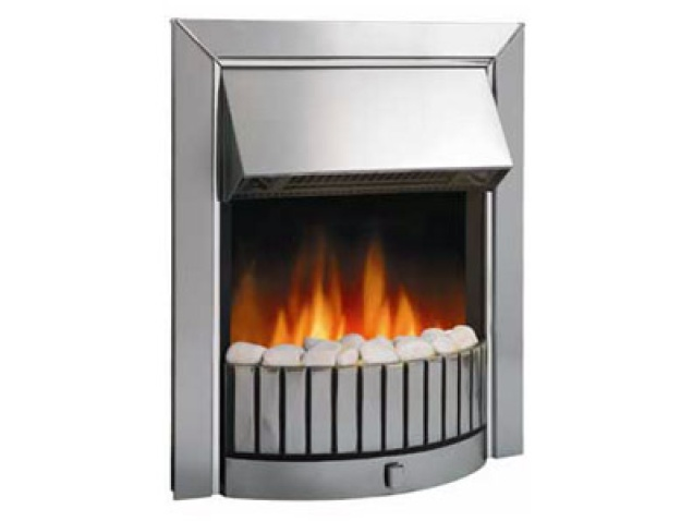 Dimplex Delius Chrome Electric Fire Fireplace World