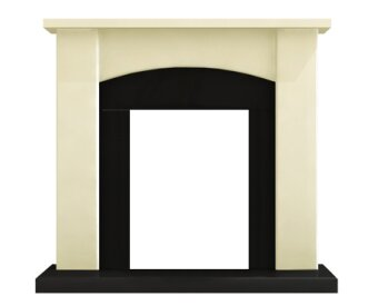 Adam Holden Fireplace In Cream And Black 39 Inch
