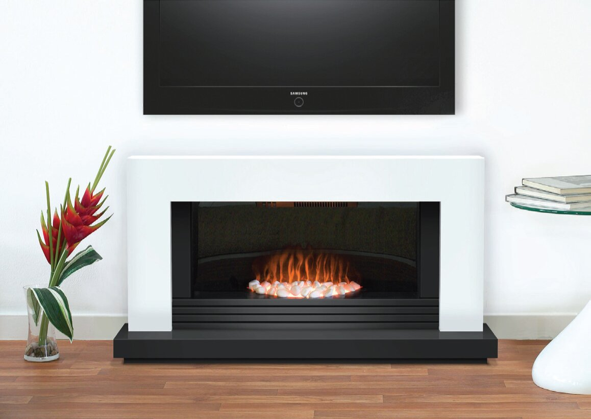 Adam Carrera Fireplace Suite In Pure White 48 Inch Fireplace World