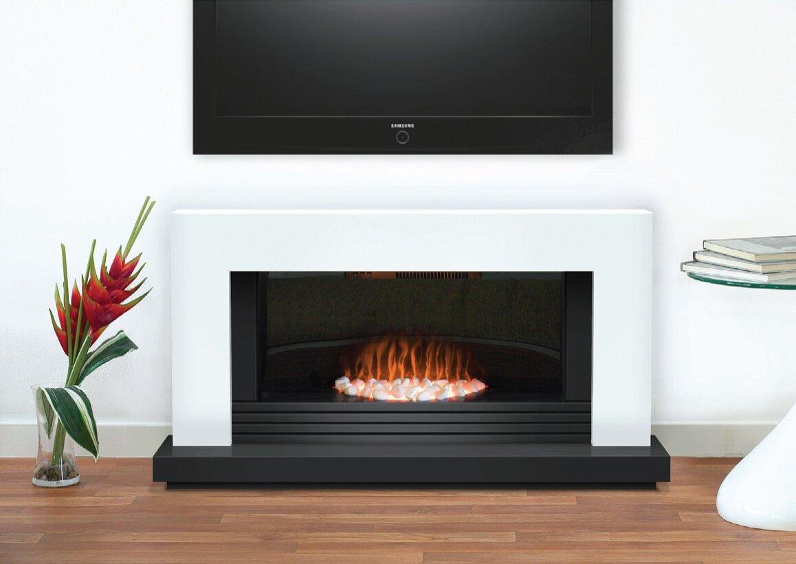 Adam Carrera Fireplace Suite In Pure White 48 Inch