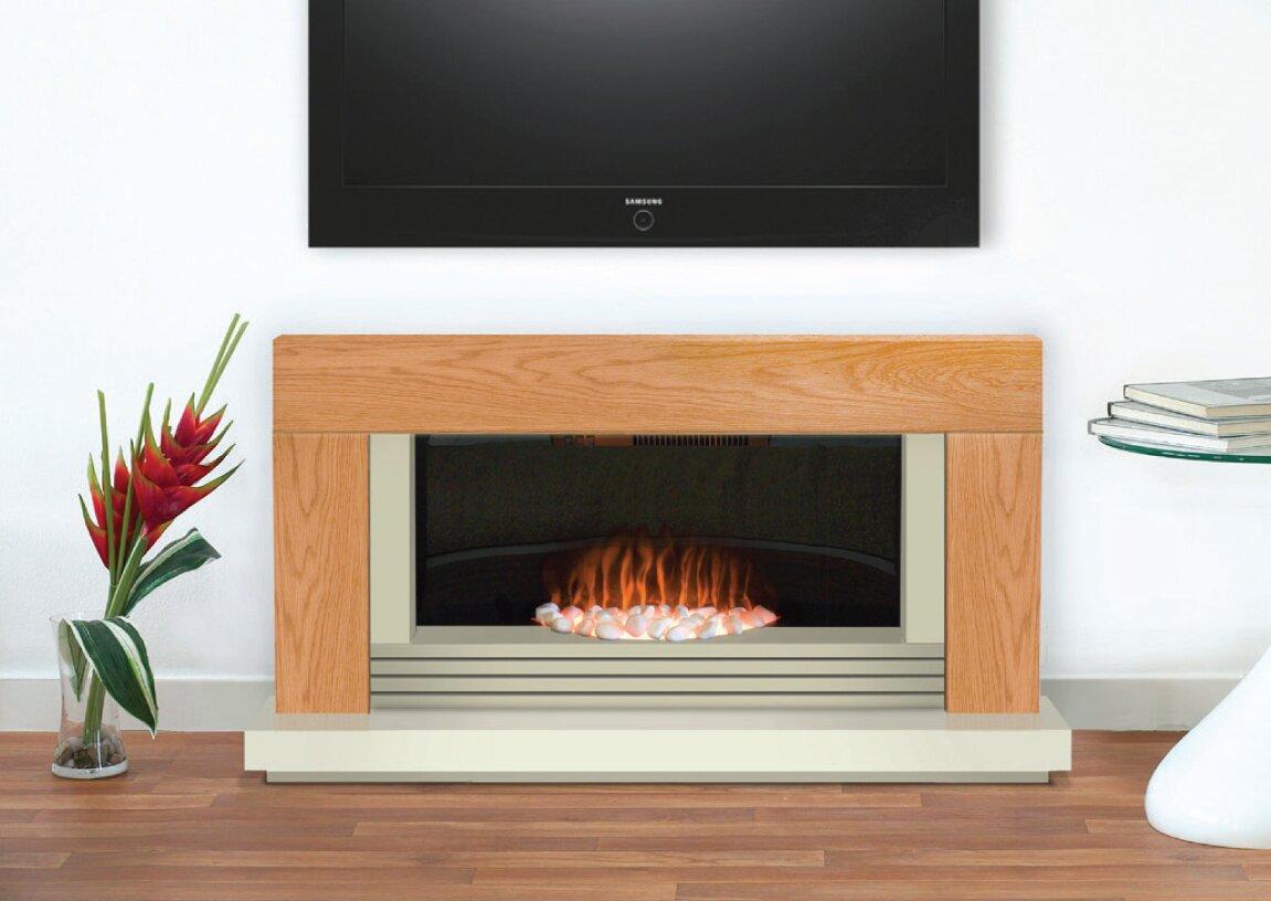 adam carrera fireplace suite in oak 48 inch fireplace world. Black Bedroom Furniture Sets. Home Design Ideas