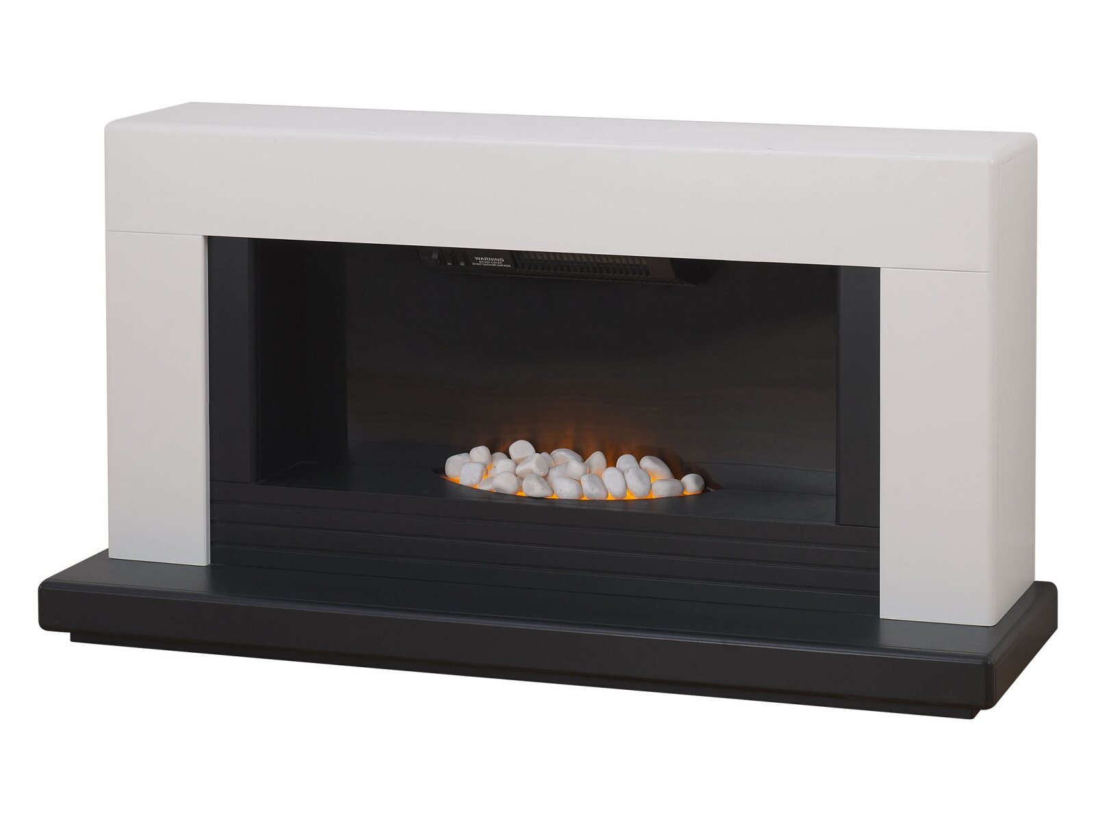 Adam Carrera Fireplace Suite In Pure White 48 Inch
