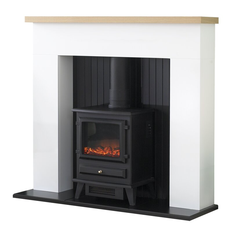 White Electric Stove ~ Adam innsbruck stove suite in pure white with hudson