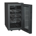 Endeva - 8 Bottle Wine Cooler - Black with Mirrored Door