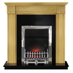 Georgian Oak Electric Fireplace Suite