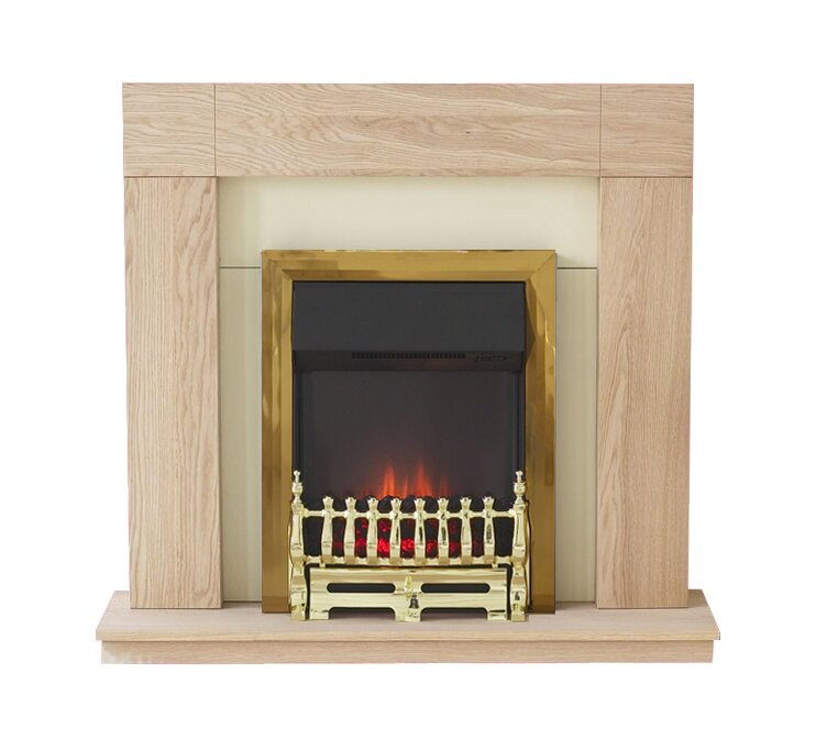 Adam Malmo Fireplace Suite In Oak With Adam Ribbon