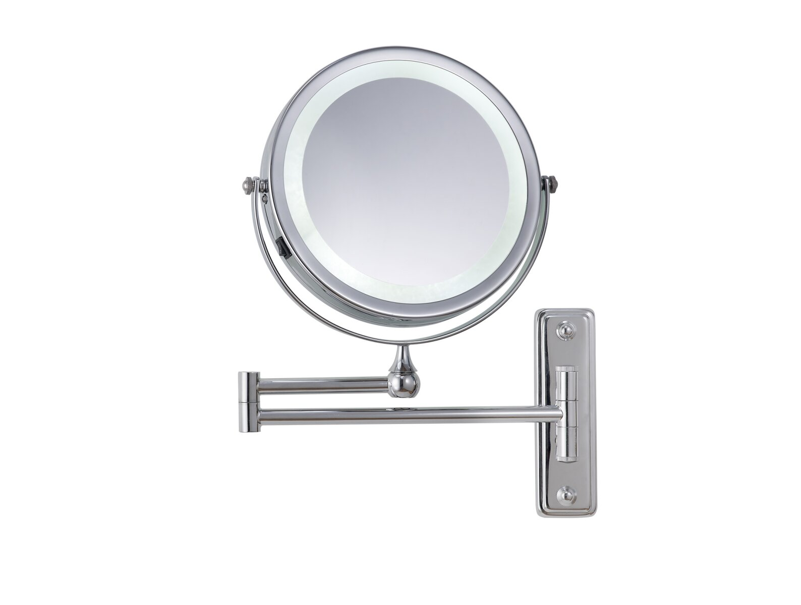 Illuminated wall mounted cosmetic shaving mirror corby for Shaving mirror