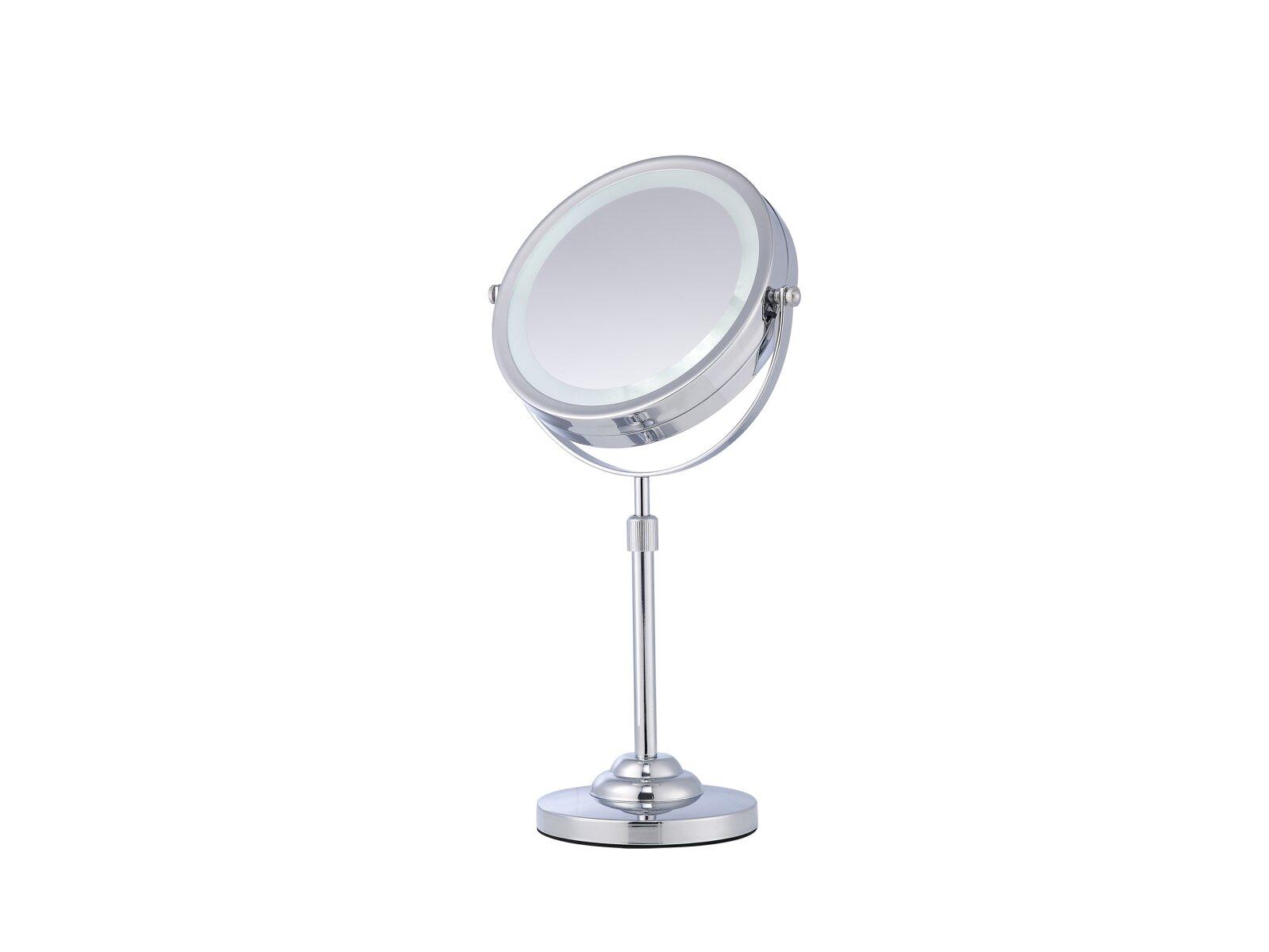 Specchio cosmetico ingranditore da tavolo con luce corby hospitality - Specchio ingranditore con luce ...