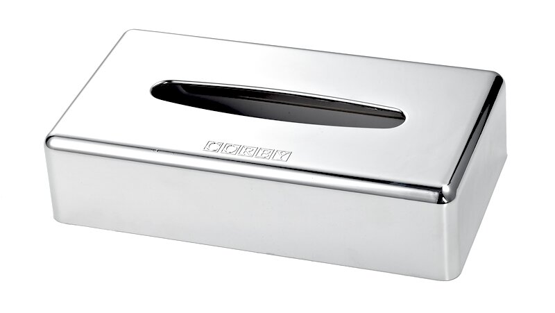 rechteckige kosmetiktuchbox chrom 6 stk corby hospitality. Black Bedroom Furniture Sets. Home Design Ideas