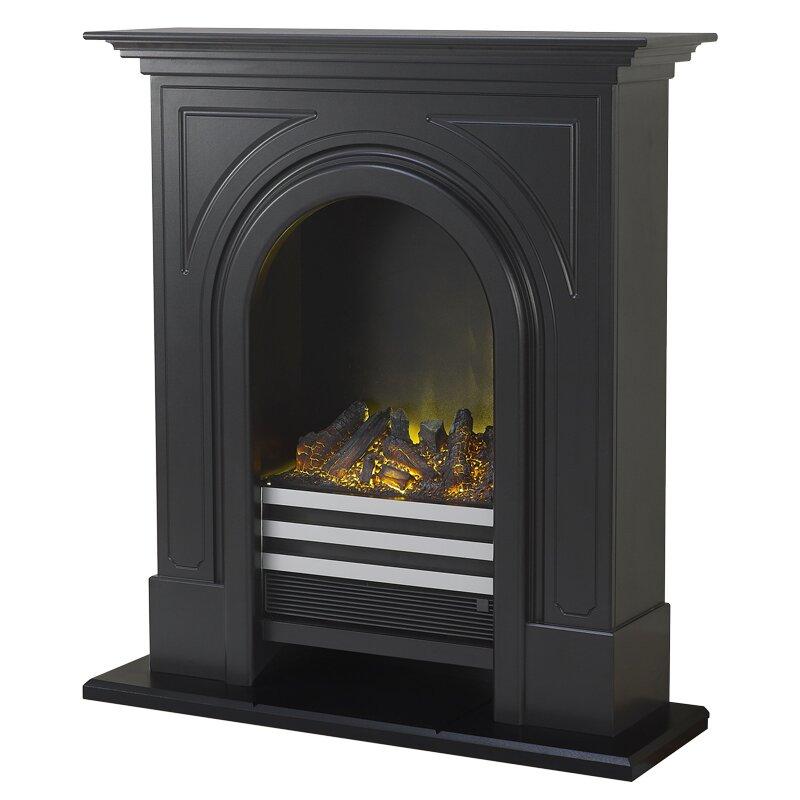 Adam Durham Fireplace Suite In Black Cast Effect 36 Inch