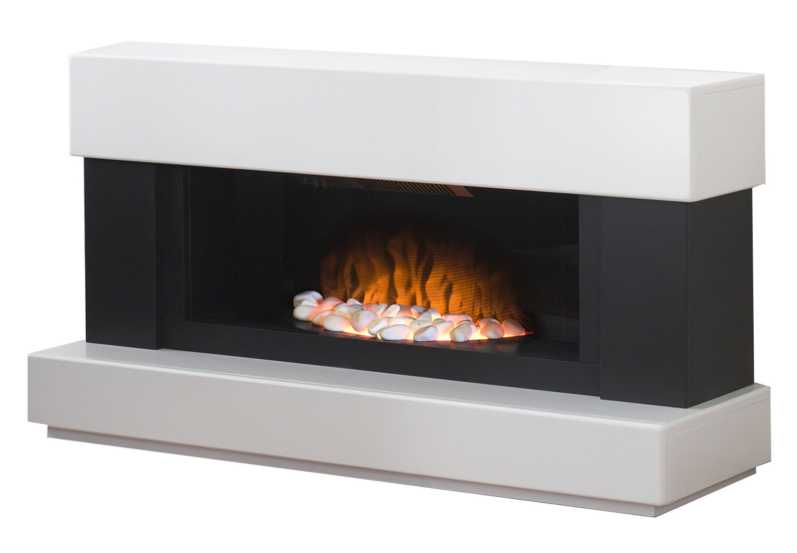 Adam Verona Fireplace Suite In Pure White 48 Inch