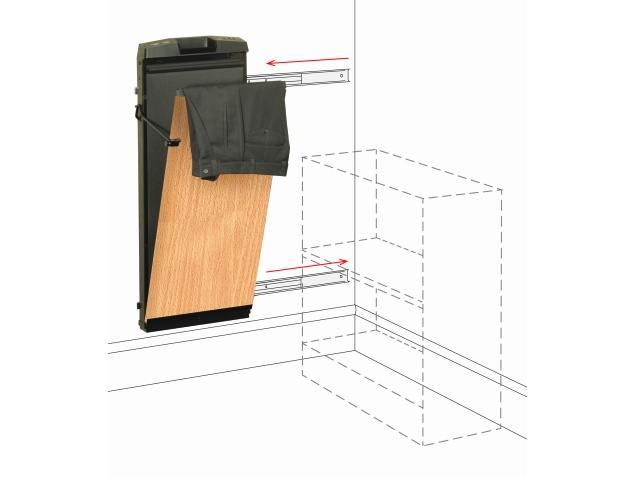 Corby 7700 Beech Space Saver Trouser Press That Slides To
