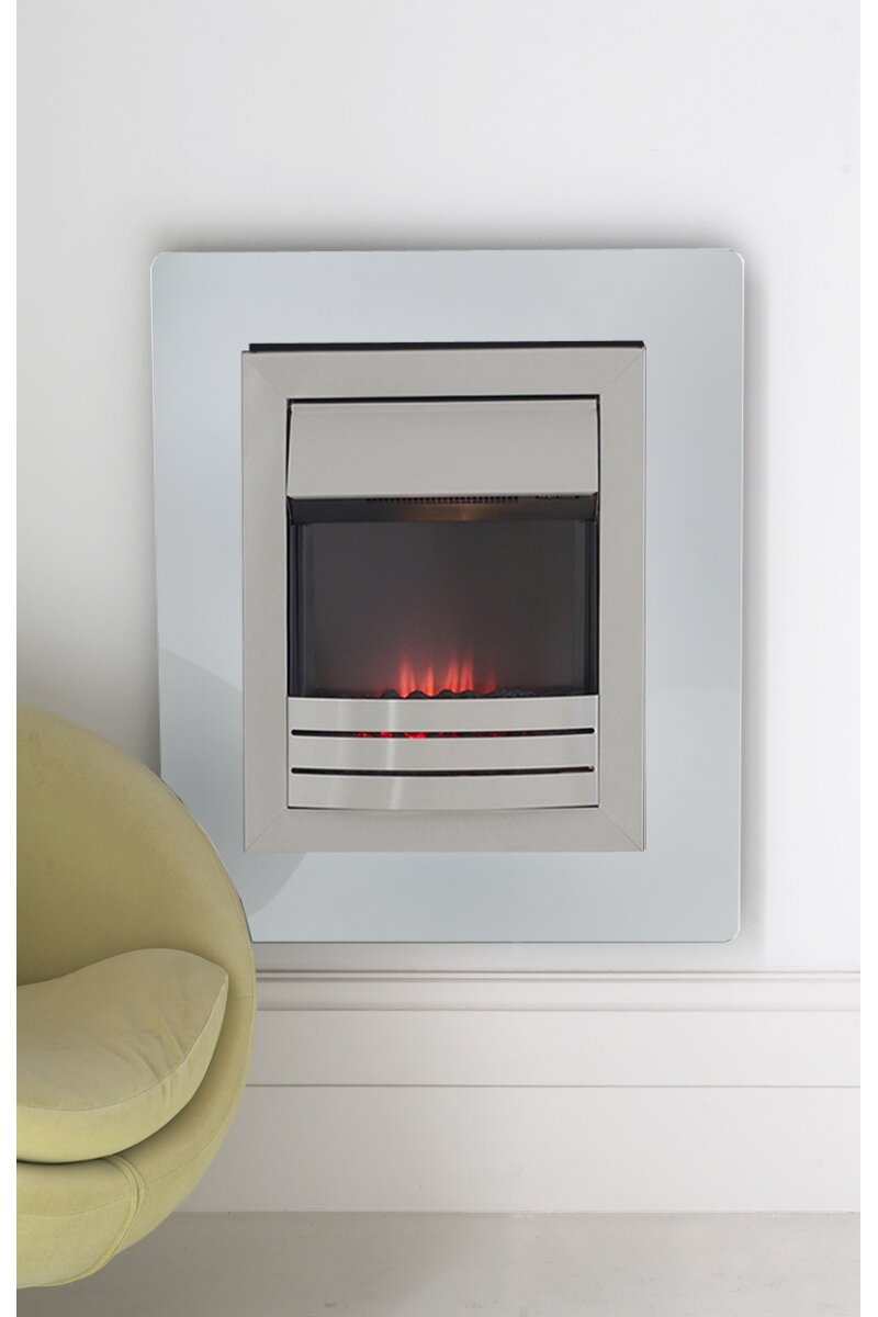 Adam Matisse White Glass Flame Effect Wall Mounted