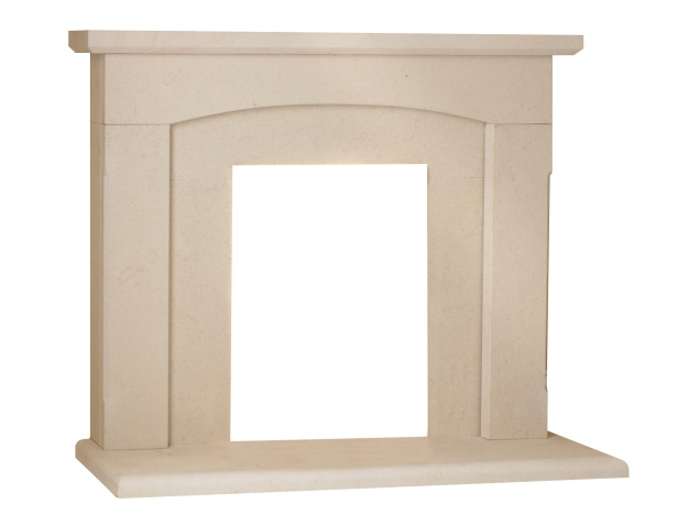 The California Fireplace in Limestone, 48 Inch