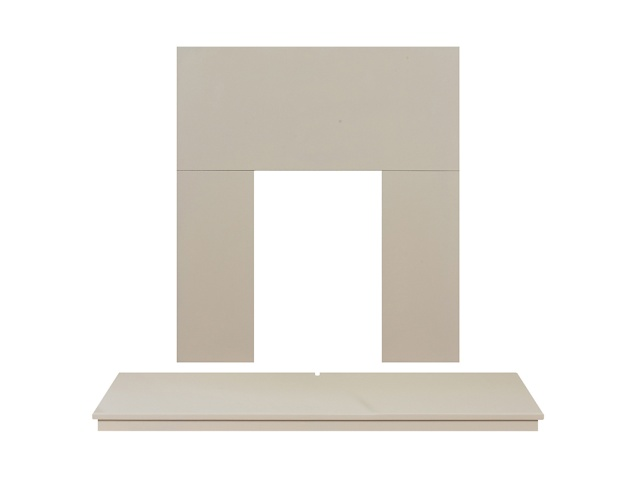 Adam Fireplace Back Panel And Hearth Set In Cream 48 Inch