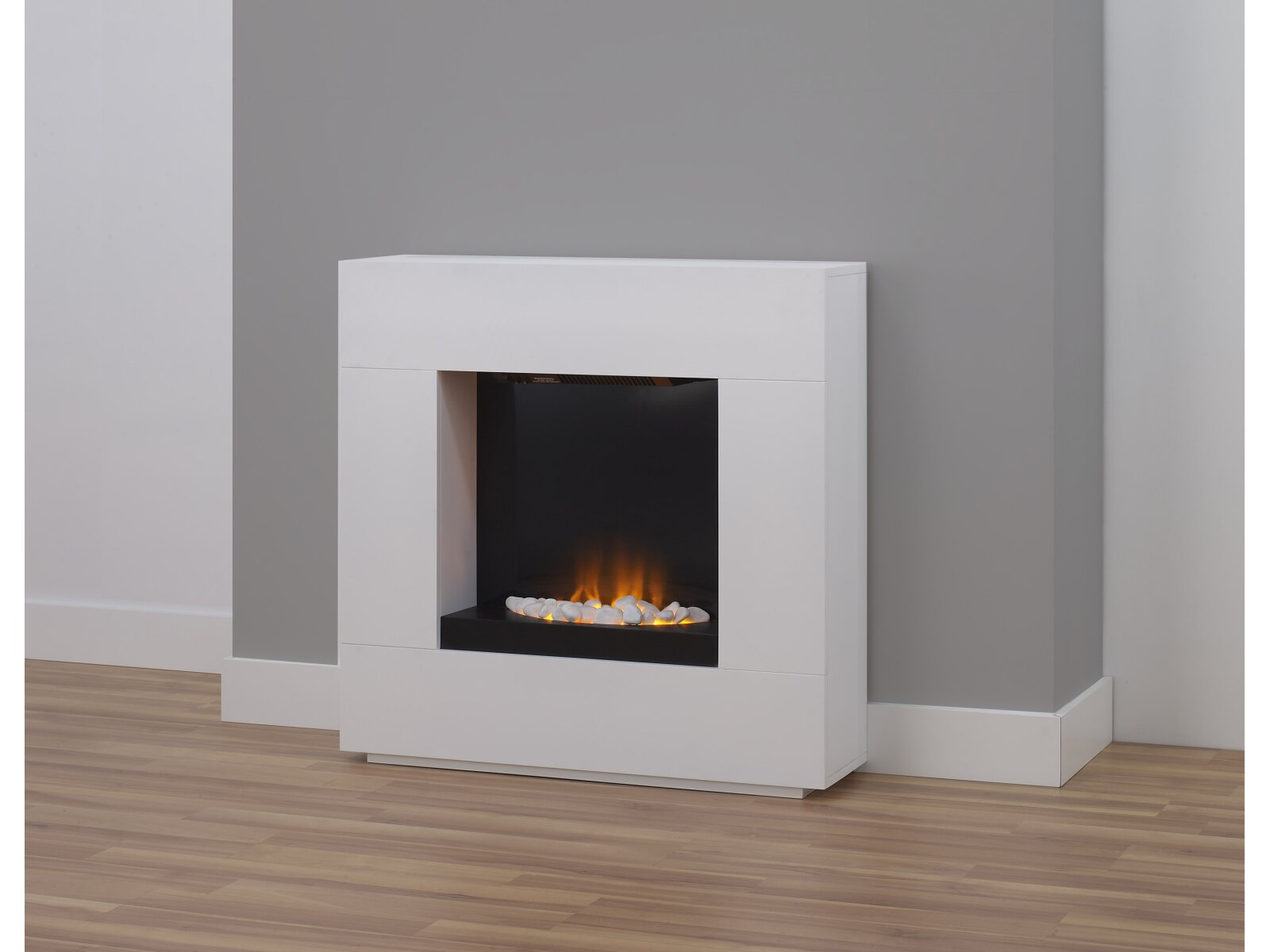 Adam Quebec Electric Fireplace Suite In White 36 Inch