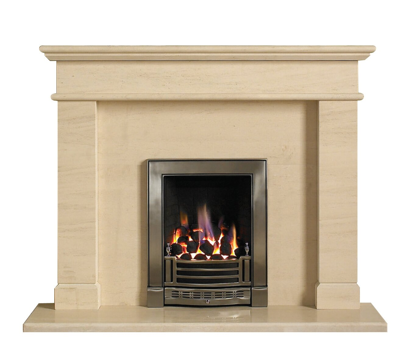 aurora faro limestone fire surround set 52 inch