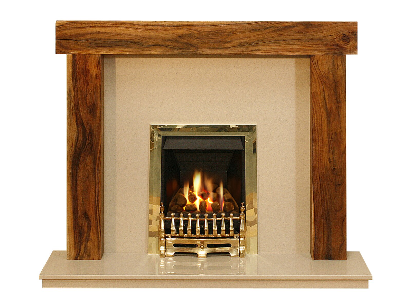 adam fenchurch fire surround set in acacia and marfil. Black Bedroom Furniture Sets. Home Design Ideas
