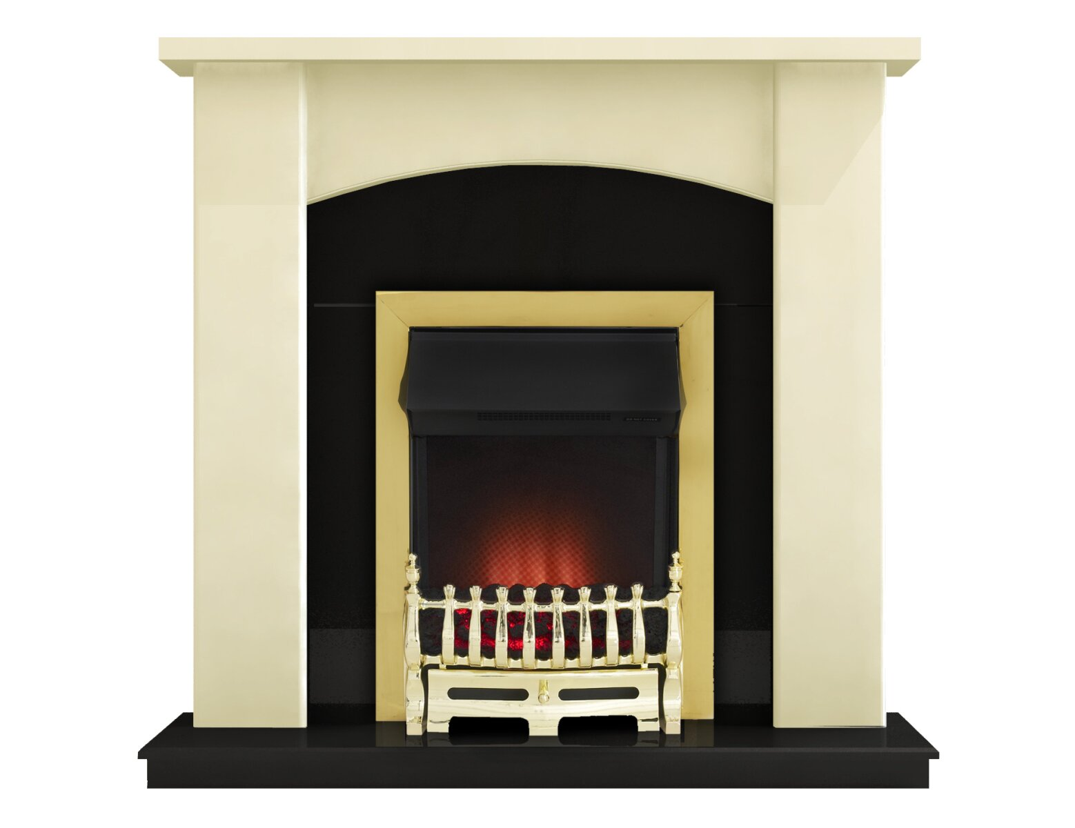 Adam Holden Fireplace Suite In Cream With Ribbon Electric