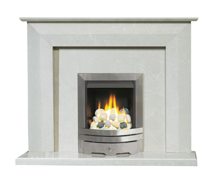 Aurora Linear Roman Stone Marble Fire Surround Set 54 Inch Fireplace World