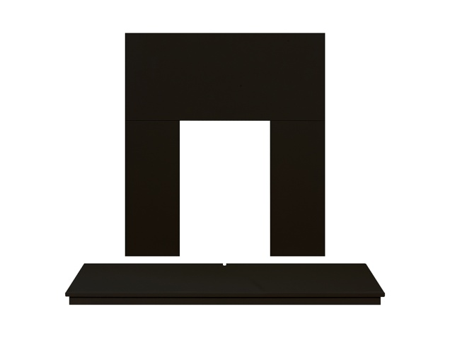 Adam Fireplace Back Panel And Hearth Set In Black 48 Inch