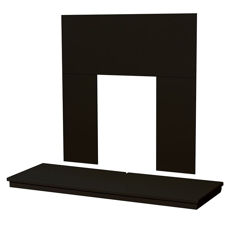 adam fireplace back panel and hearth set in black 48 inch. Black Bedroom Furniture Sets. Home Design Ideas