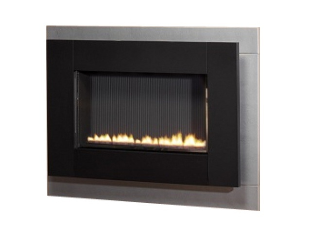 focal point aden wall mounted flueless gas fire in black. Black Bedroom Furniture Sets. Home Design Ideas
