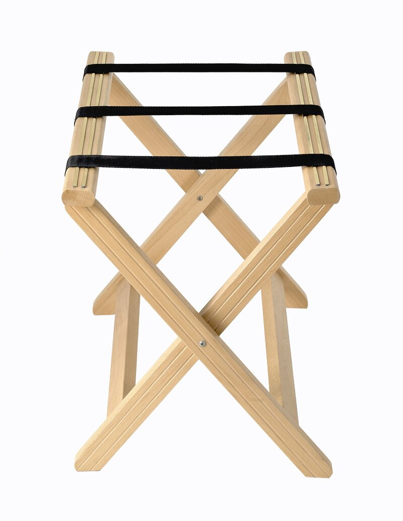 porte bagages en bois couleur h tre corby hospitality. Black Bedroom Furniture Sets. Home Design Ideas