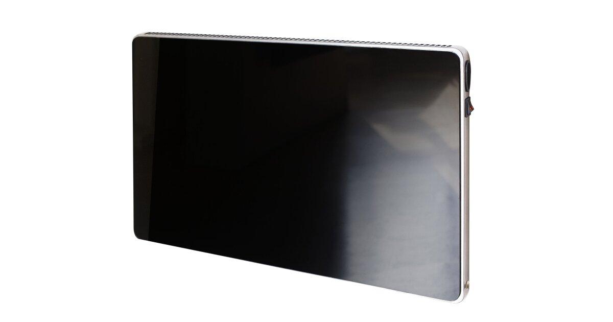 adam irad electric panel heater in black glass 700mm corby hospitality - Black Glass
