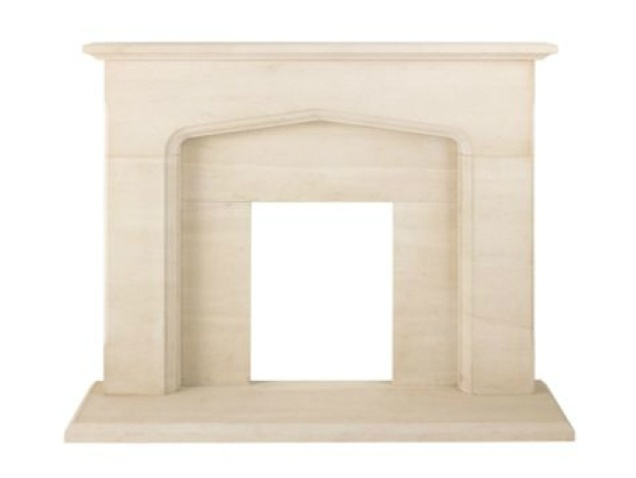 The Derby Fireplace in Limestone, 54 Inch