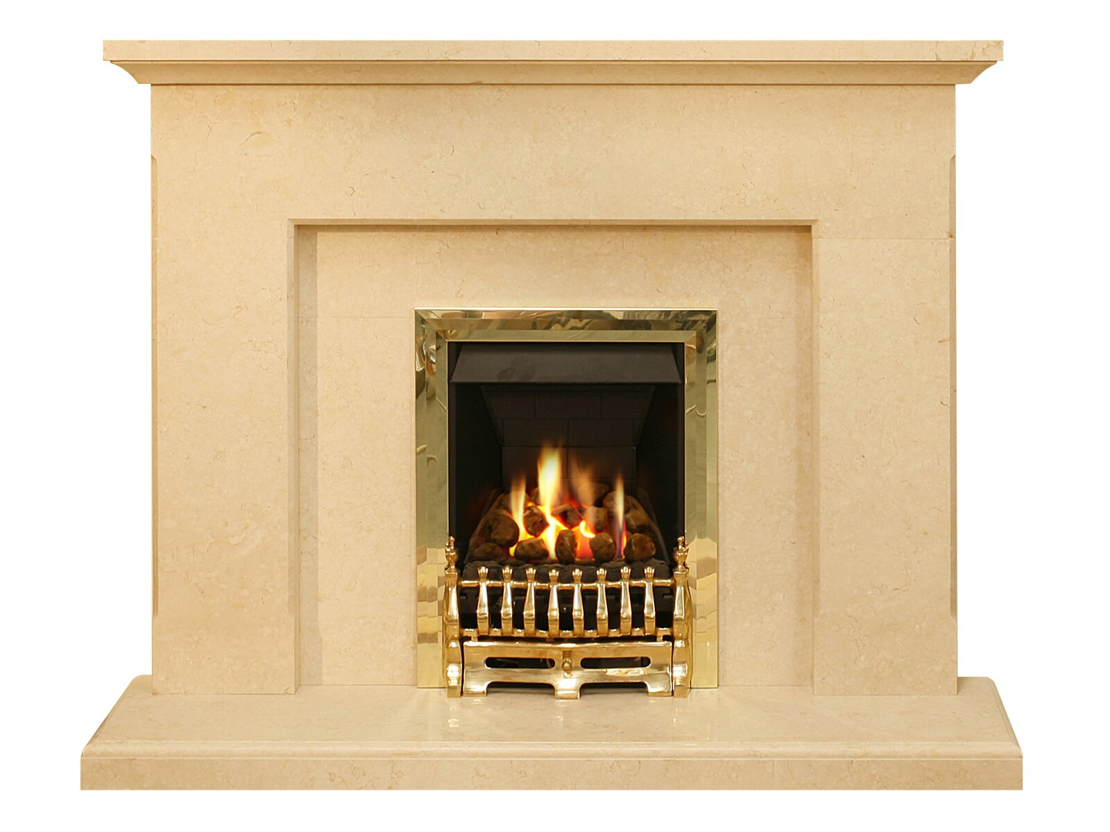 the estoril fireplace in limestone 54 inch fireplace world