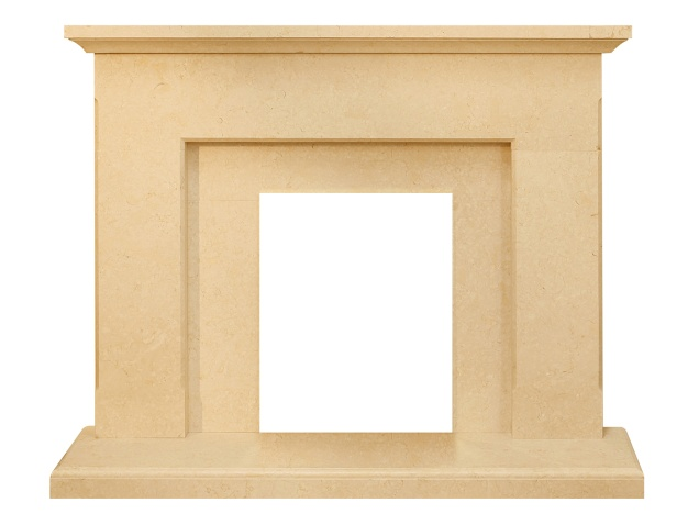 The Estoril Fireplace in Limestone, 54 Inch