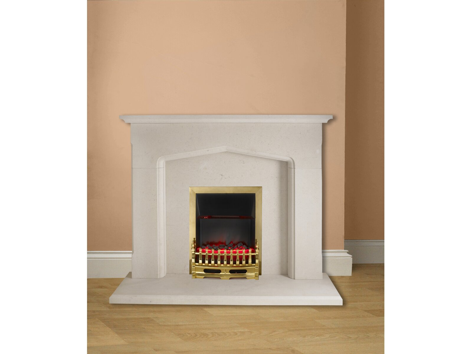 the derby fireplace in limestone 54 inch fireplace world