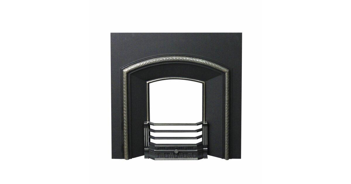 Meridian Cast Iron Fireplace Back Panel Set, 38 Inch | Fireplace World