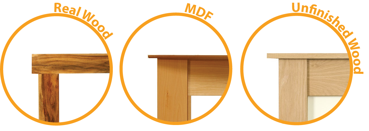 Real Wood, MDF and Unfinished Wood Mantelpieces