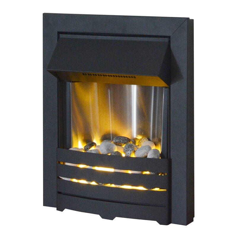 Adam Helios Electric Fire In Black Fireplace World