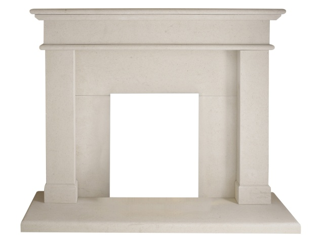The Windsor Fireplace in Limestone, 54 Inch