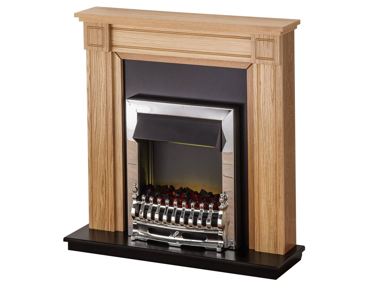 Adam Georgian Fireplace Suite In Oak With Blenheim