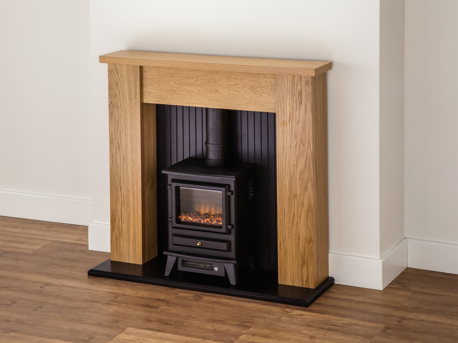Adam New England Stove Suite In Oak With Hudson Electric