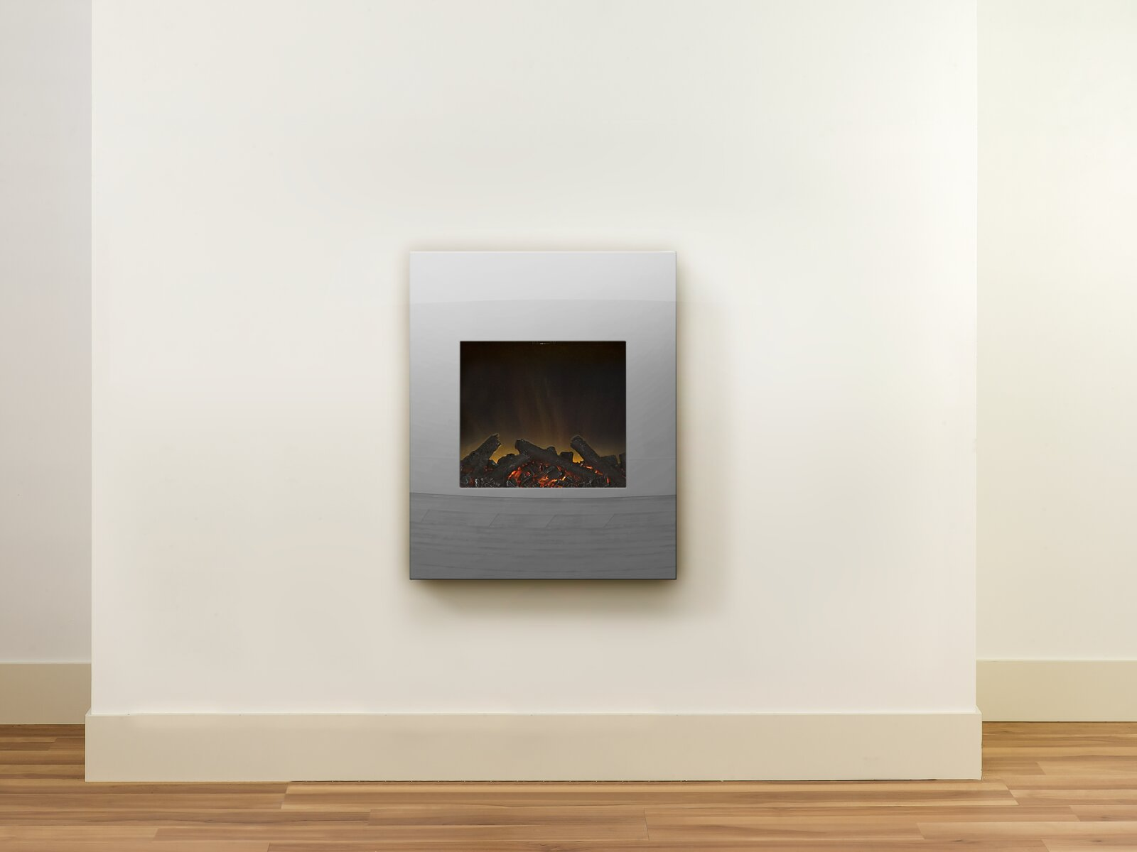Adam Alexis Wall Mounted Electric Fire With Mirrored