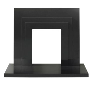 The Zurich Fireplace in Black Granite