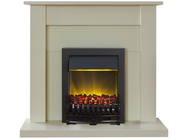 Adam Sutton Fireplace Suite In Cream With Blenheim