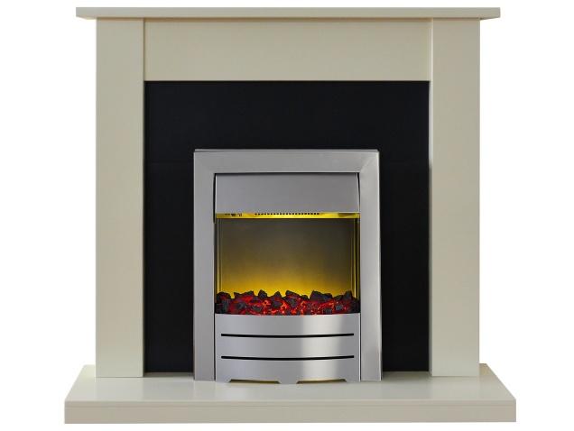 Adam Sutton Fireplace Suite In Cream With Colorado