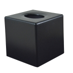 Black Cube Tissue Box Cover (Case Qty 6)