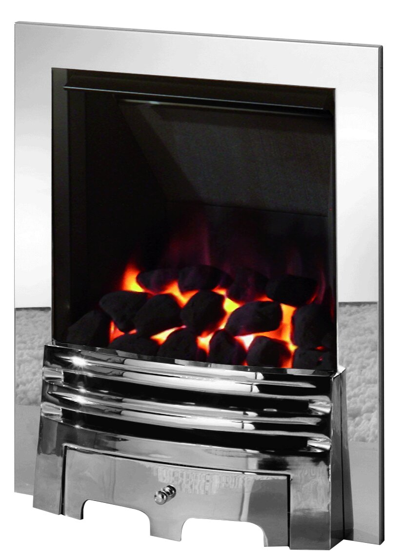 The Diamond Gas Fire In Chrome By Crystal Fireplace World