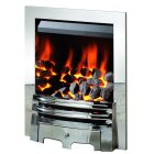 The Gem Gas Fire in Chrome, by Crystal