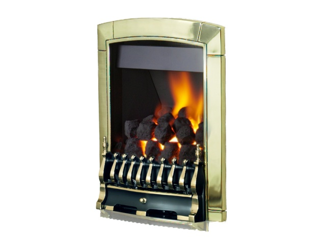 Flavel Caress Traditional High Efficiency Gas Fire In Brass Fireplace World